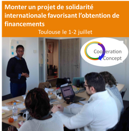 Formation : Monter un projet de solidarité internationale favorisant l'obtention de financements @ 31000 |  |  |